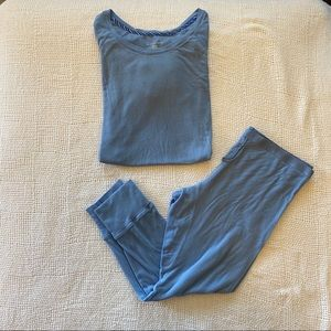 Victoria's Secret Blue Thermal Pajama Set